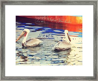 Psalm 107 Framed Print by Karen Jbon Lee