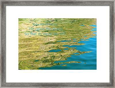 Psalm 107.29 Framed Print by Tom Clark
