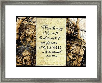 Psalm 113 3 Framed Print by Gary Bodnar