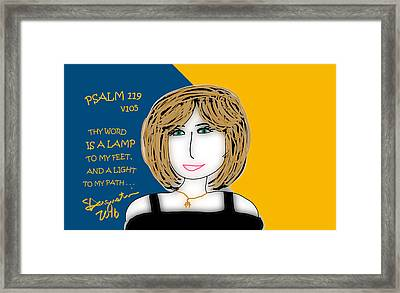 Psalm 119     2016 Framed Print by Sharon Augustin
