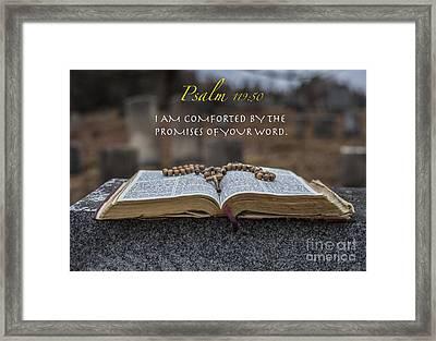 Psalm 119 50 Framed Print