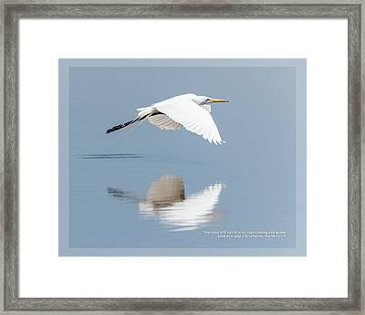 Framed Print featuring the photograph Psalm 121 8 by Dawn Currie