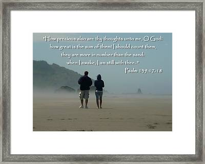 Psalm 139 Framed Print by Cindy Wright