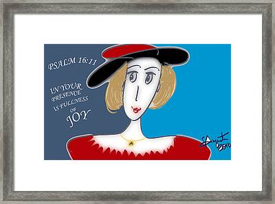 Psalm 16     2016 Framed Print by Sharon Augustin
