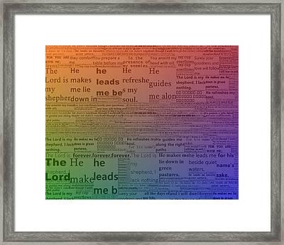 Psalm 23 Art Framed Print by Dan Sproul