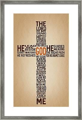 Psalm 23 Framed Print by Art Spectrum