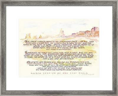 Psalm 23 Navajo Version  Framed Print