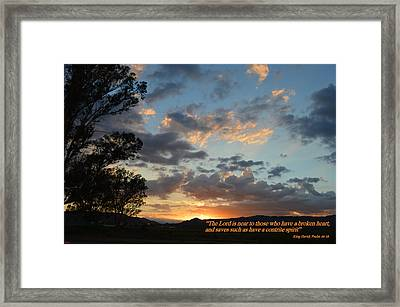 Psalm 34 Eighteen Framed Print
