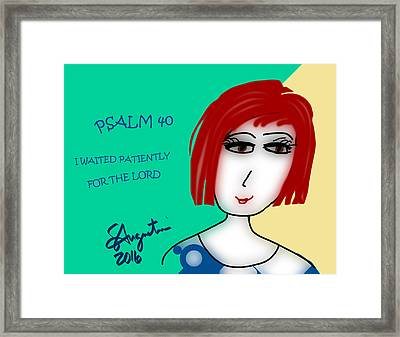 Psalm 40     2016 Framed Print by Sharon Augustin