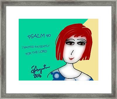 Psalm 40     2016 Framed Print