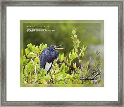 Psalm 5 11 Framed Print by Dawn Currie