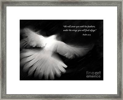 Psalm 91 Framed Print by Glennis Siverson