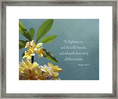 Psalms 01 Framed Print