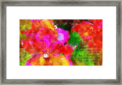 Psaumes 35-9 Framed Print