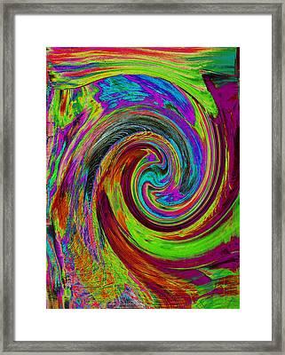 Pscholdelic Surfs Up Framed Print by Wayne Potrafka