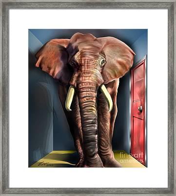 Psst Framed Print by Reggie Duffie
