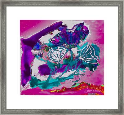 Psycadelic Flowers Framed Print
