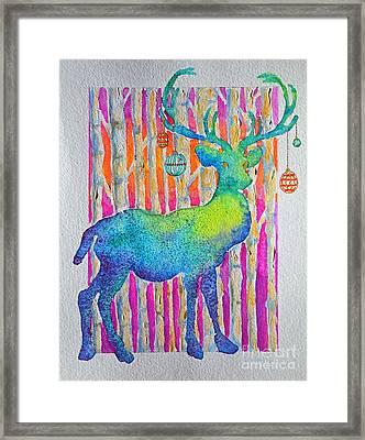 Psychedeer Framed Print