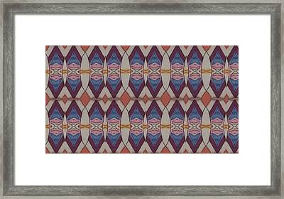 Psychedelic 2 5 17 Framed Print by Modern Metro Patterns and Textiles