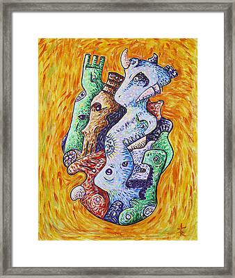 Psychedelic Animals Framed Print by Sotuland Art