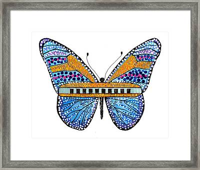 Psychedelic Blues Harmonica Framed Print