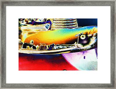 Psychedelic Chevy Bumper Framed Print by Richard Henne