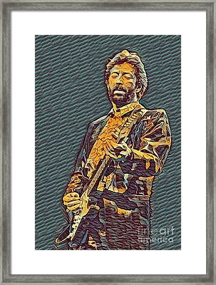 Psychedelic Clapton  Framed Print by Pd