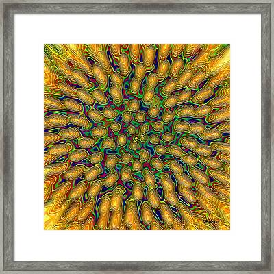 Psychedelic Coneflower Mandala Framed Print