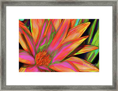 Framed Print featuring the photograph Psychedelic Daisy By Kaye Menner by Kaye Menner