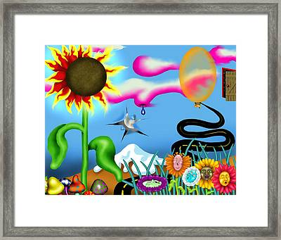 Psychedelic Dreamscape I Framed Print