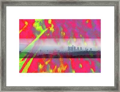 psychedelic energy of Los Angeles Framed Print by Viktor Savchenko
