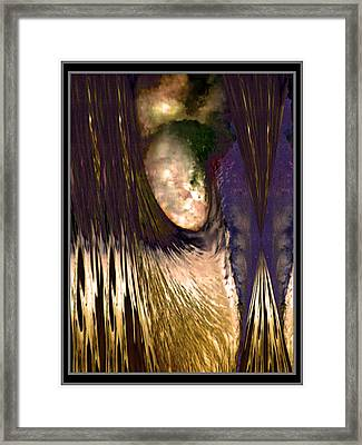 Psychedelic Fantasy Art Angel  Decending From The Skies  Framed Print by Navin Joshi