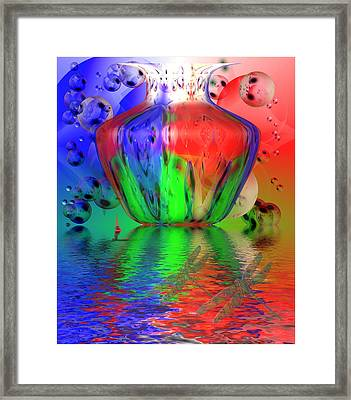 Framed Print featuring the photograph Psychedelic Flight by Joyce Dickens