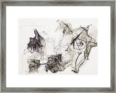 Psychedelic Ink Drawing Framed Print