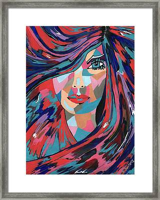 Framed Print featuring the painting Psychedelic Jane by Kathleen Sartoris
