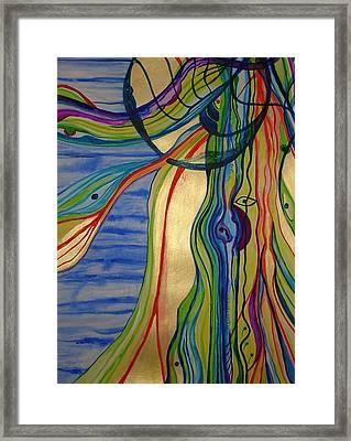 Psychedelic Jellyfish Framed Print