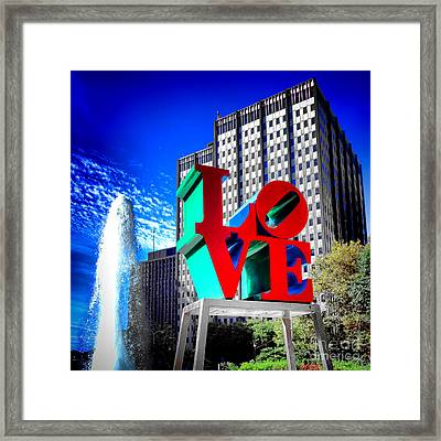 Psychedelic Love  Framed Print by Olivier Le Queinec