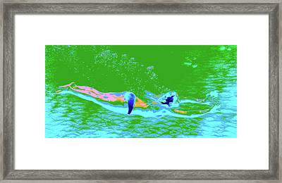 Psychedelic Makua Mermaid Framed Print by Erika Swartzkopf