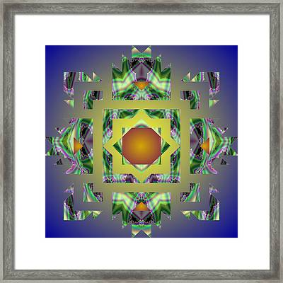 Psychedelic Mandala 002 A Framed Print