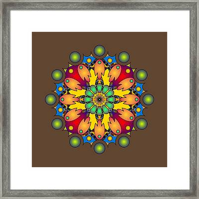 Psychedelic Mandala 009 A Framed Print