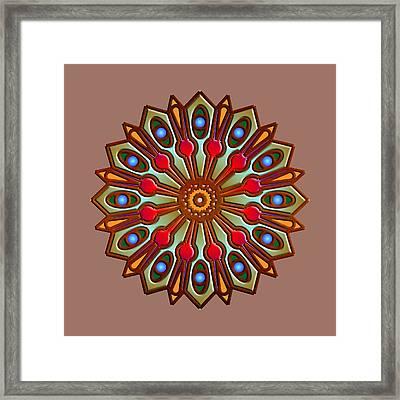 Psychedelic Mandala 012 A Framed Print