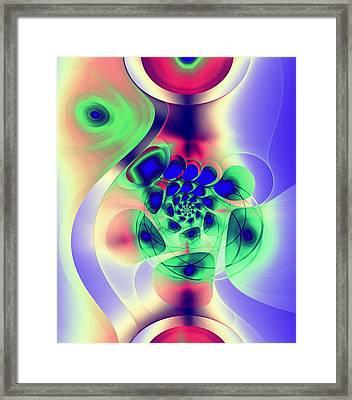 Psychedelic Peacock Framed Print by Anastasiya Malakhova