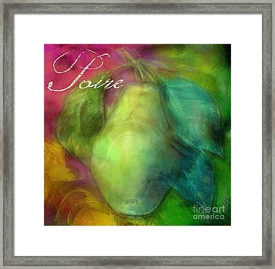 Psychedelic Pear Framed Print by Mindy Sommers