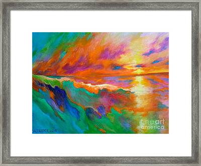Psychedelic Sea Framed Print