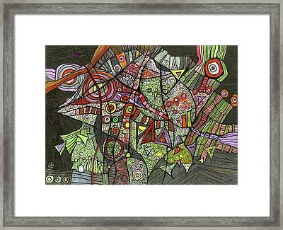 Psychedelic Sea Creature Framed Print