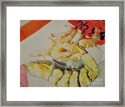 Psychedelic Shrimp Framed Print
