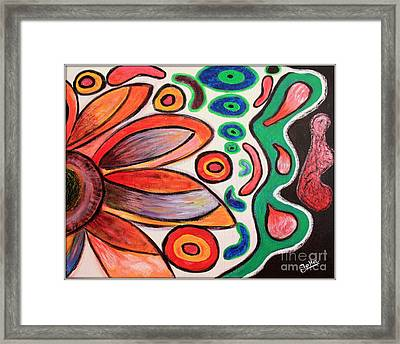 Framed Print featuring the painting Psychedelic Summer by Jolanta Anna Karolska