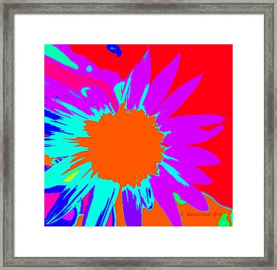 Psychedelic Sunflower Framed Print