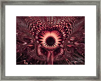 Psychedelic Sunflower / Dark Magenta Framed Print by Elizabeth McTaggart
