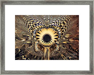 Psychedelic Sunflower  Framed Print by Elizabeth McTaggart